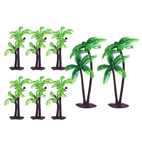 Amosfun Green Palm Tree Cupcake Topper Cake Topper Party Festival für Kuchendekorationen 8 STÜCKE