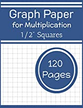 Graph paper for Multiplication: Graph paper for kids large 1/2 inch squares