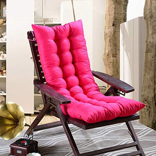 ZSGZ 48x160cm portátil Sun Silla Cojín Calor Engrosada Silla de Oficina Silla de oscilación de Juego de sillón reclinable Cojín (Color : Pink)
