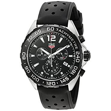 Tag Heuer Formula 1 CAZ1010.FT8024 Men's 43mm Chronograph Watch with Black Rubber Strap