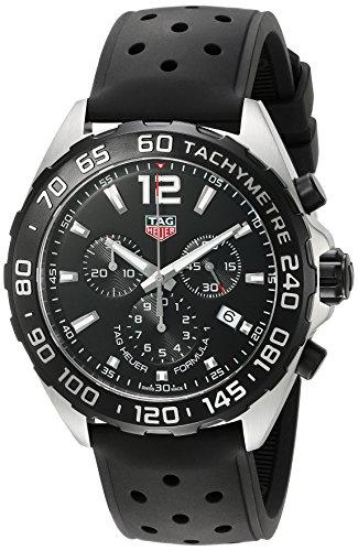 TAG Heuer CAZ1010.FT8024 - Orologio al quarzo, cronografo, da uomo 43mm, cinturino nero in gomma