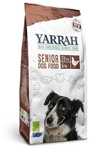 YARRAH Senior Cibo secco organico per cani anziani | squisiti bocconcini biologici con pollo, pesce ed erbe, 2kg | 100% biologico e privo di additivi artificiali