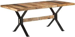 FAMIROSA Table de Salle à Manger 180x90x76 cm Bois de manguier Brut