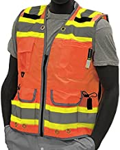 Majestic Glove 75-3236/X5 High Visy Duty Vest, Relief Pip, Insulated Pocket, Dot, 5X-Large, Yellow