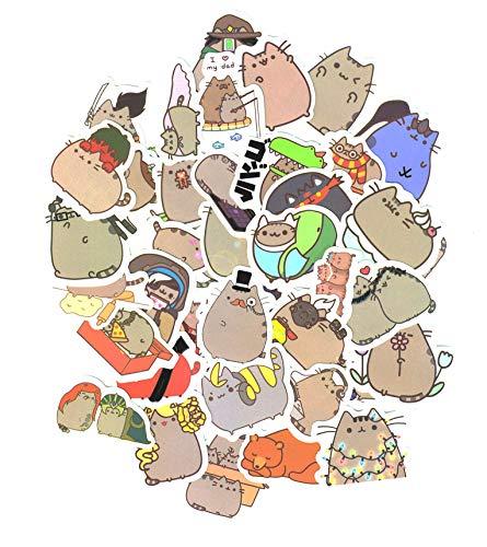 Top Aufkleber! Set von 101 süße Katze Aufkleber Premium Qualität - Vinyls Stickers Nicht Vulgär – Fashion, Stil, Bombe, Graffiti - Anpassung Laptop, Gepäck, Motorrad, Fahrrad, Skateboard