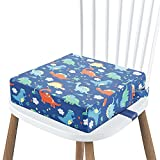 Toddler Booster Seat for Dining Table, Washable Booster Seat with Double Adjustable Straps for Kids, Portable Travel Increasing Cushion