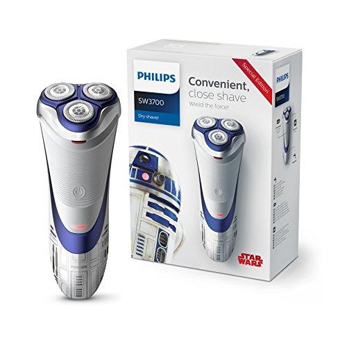 Philips Afeitadora eléctrica en seco SW3700/07 Máquina de Afeitar, Azul, Plata, Blanco