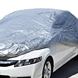 Motor Trend All Season WeatherWear 1-Poly Layer Snow proof, Water Resistant Car Cover Size XL1 - Fits up to 210' - CC-544+LOCK , Silver