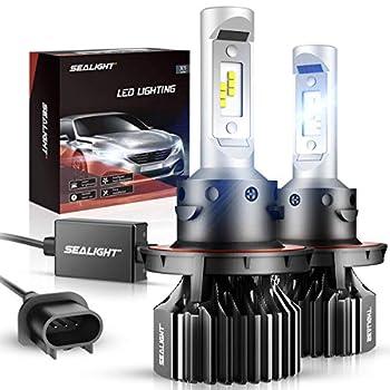 SEALIGHT H13/9008 LED Bulbs Super Bright Combo Kit Cool White 6000K 10 Min Installation IP67 Waterproof 2 Pack