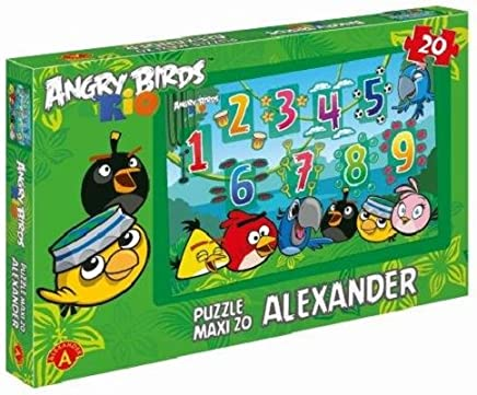 Puzzle maxi cyferki Angry Birds Rio 20