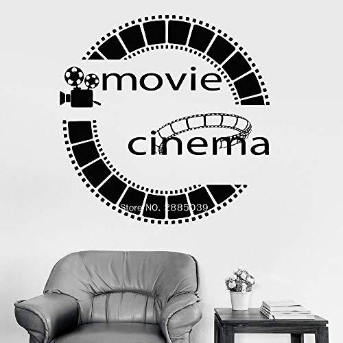 yaofale Kino Zitat Bild Vinyl Wandtattoo Film Cinemaddict Wandaufkleber Für Wohnzimmer Dekoration Kunst Tapeten 57x57cm