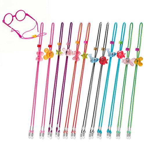Glasses Strap (Pack of 12) Sunglass Strap, Kids Glasses Strap for Girls,Glasses Holder Strap for kids ages 3-13