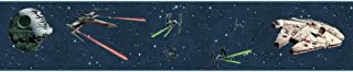 York Wallcoverings Disney Kids III Star Wars Classic Ships Border, Blues