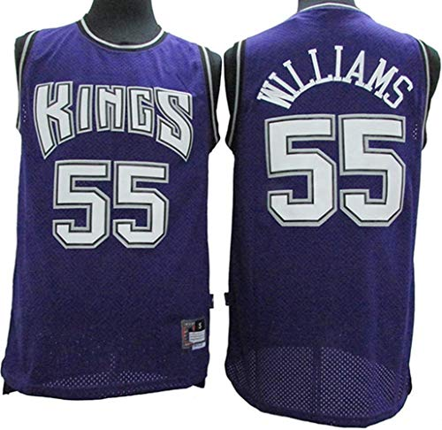 XSJY Maillot para Hombre - NBA King 55# Jason Williams Vintage All-Star Jersey, Tela Transpirable Genial, Camiseta De Manga Corta para Mujer,C,L:175~180cm/75~85kg