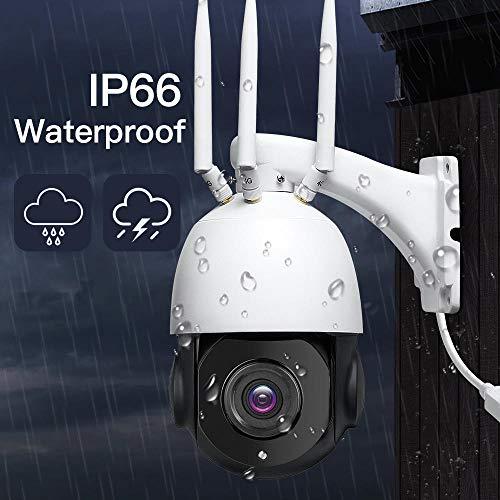 Bewakingscamera, 1080p draadloze PTZ IP-camera met 30x optische zoom, wifi HD 80M infrarood nachtzicht-bewakingscamera, voor buiten 5MP Not SD Card