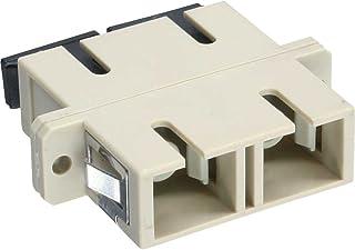 InLine Duplex SC/SC, Multimode, with Flange - adaptateurs et connecteurs de câbles (Multimode, with Flange, 2 x SC, 2 x SC, Femelle/Femelle, Beige, Céramique)