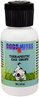 Dogs n Mites Ear Drops for Demodex Mange, Yeast, Bacterial and Viral Infection of Inner and Outer Ears of Dogs and Puppies – 1.0 OZ
