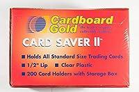 カードセーバー 段ボール ゴールド 半硬質カードホルダー 200枚