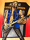 DAVE NAVARRO ORIGINAL PAINTING man cave art-prs guitar trust no one cd lp record jane's addiction panic channel