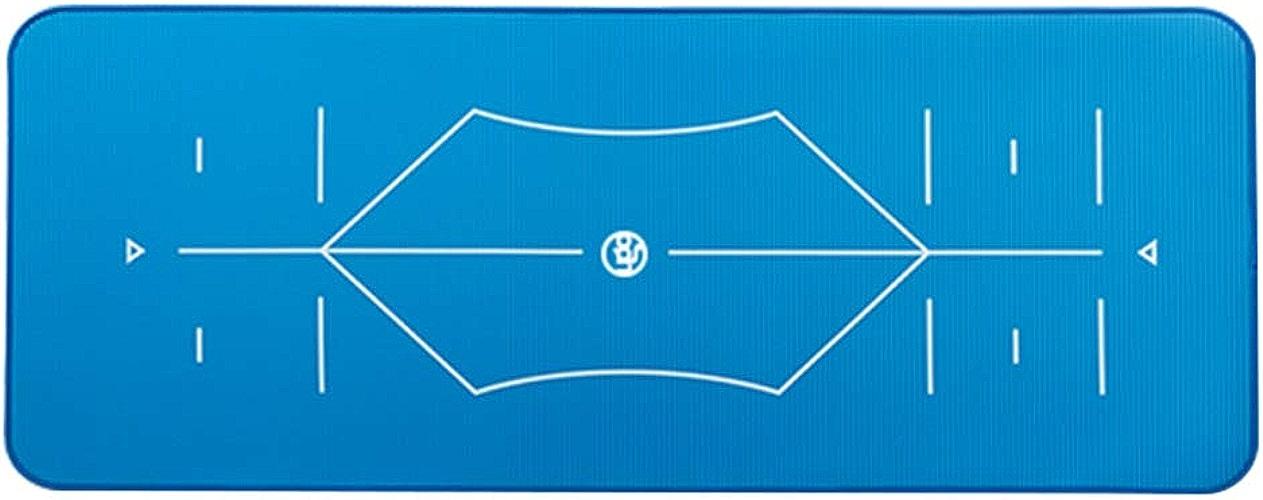 SPORTS Non Glissante Tapis de Yoga Haut de Gamme NBR 1.0cm épais - Fitness Tapis de Gymnastique aérobic Pilates 185x 80cm