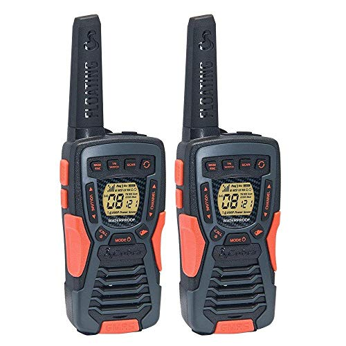 COBRA ACXT1035R FLT Floating Walkie Talkies- Waterproof, Rechargeable, Long Range up to 37-Mile Two Way Radio with NOAA Weather Alert & VOX ( 2 Pack )