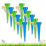 JINCHENG Riego por Goteo Automático Kit 12 Pcs Sistema de riego automático por Goteo,Ajustable Piezas Irrigación con Interruptor de Válvulapara Plantas Interior Exterior