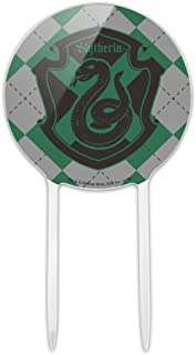 GRAPHICS & MORE Acrylic Harry Potter Slytherin Plaid Sigil Cake Topper Party Decoration for Wedding Anniversary Birthday Graduation