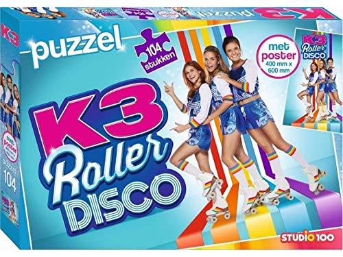 K3 Puzzel rollerdisco + poster