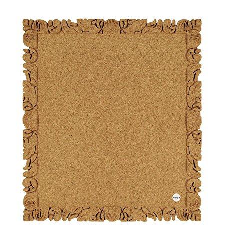 Bi-Office Quadro In Sughero RocoCork, Pannello In Sughero è Autorigenerante E Riciclabile, 60 x 45 cm