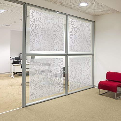 ORPRO GLASFILM PROFESSIONALS Milchglasfolie Ornamente, Sichtschutzfolie, Fensterfolie Selbstklebend, Sichtschutzfolie Fenster Folie Milchglas für Büro oder Zuhause, ca. 200 x75cm