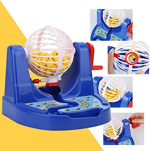 Mini skrivbord hand vev lotteri nummer boll leksak, lotteri maskin, interaktiv plast förälder-barn leksak gåva pussel leksak för barn
