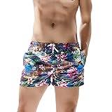 Pantaloncini da Bagno Uomo,ITISME Costume da Bagno Uomo 2020 Estate Moda Sportivi Hawaii Shorts Ragazzo Divertenti Stampa 3D Pantaloni Corti da Nuoto Spiaggia Beach Surf Vacanza Corsa