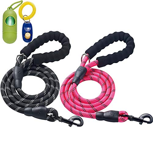 ladoogo 2 Pack 5 FT Heavy Duty Dog Leash