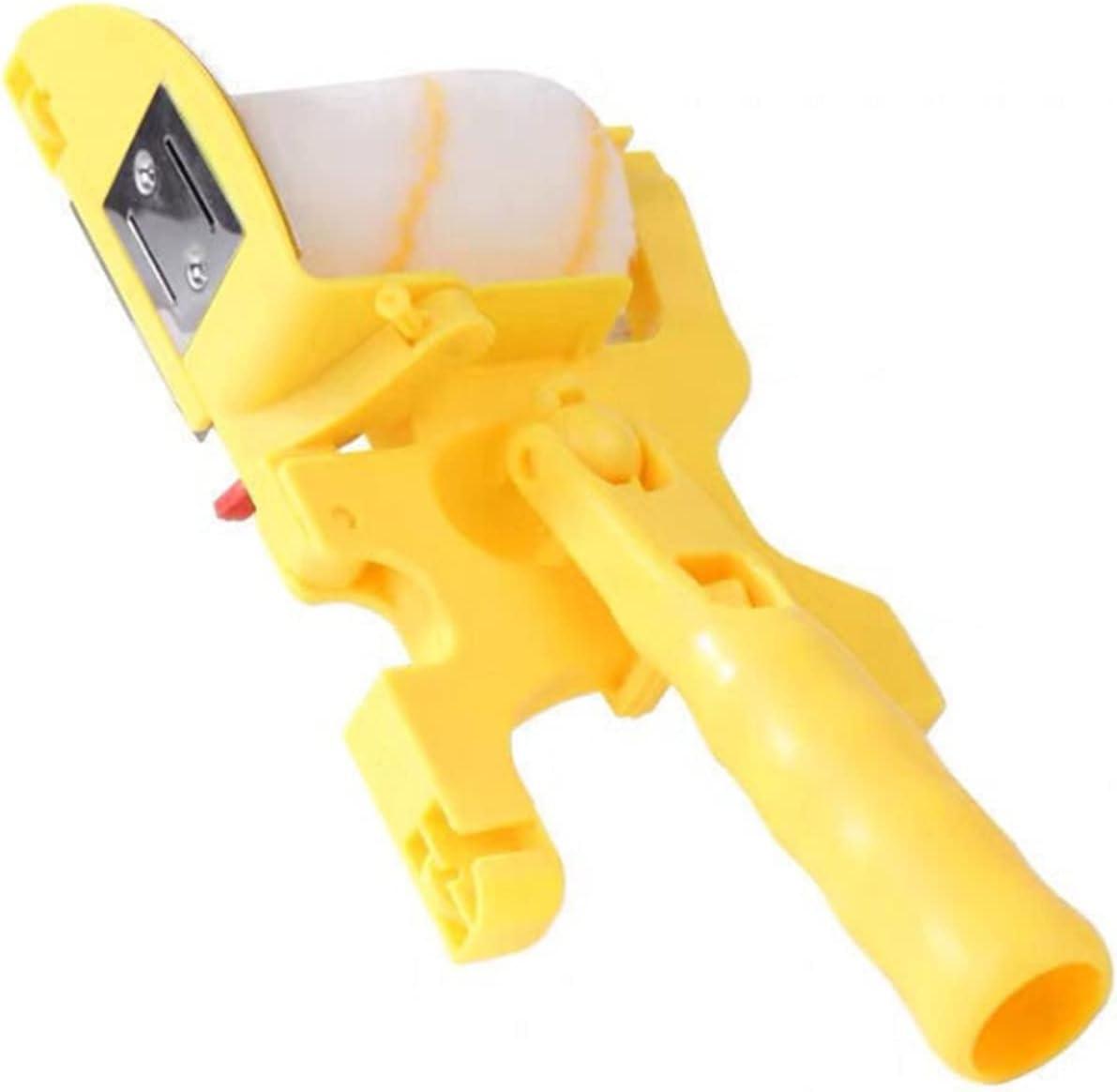 shuaike Pintura Edger Roller Brush Kit de Pintura encimeras multifuncionales Cepillos de Rodillos de Mano Conjunto Juego de Madera Ajustable Kit de Borde para el hogar Pintura de Techo de Pared