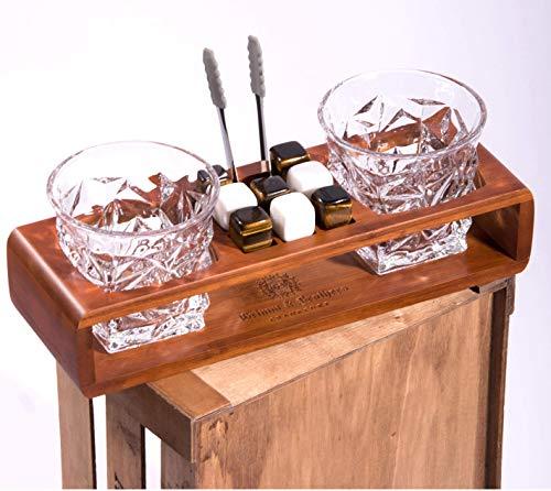 Grimm & Brothers:Whiskey Gläser Set- 2 Whisky Gläser- Whisky Steine- Whiskey Steine- Whiskey Geschenke Männer- Whisky Tumbler- Whiskey Steine Set- Whisky Set- Gläser Set