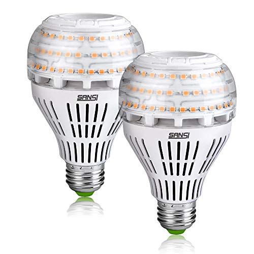 SANSI Bombilla LED E27 Luz Calida, 3000K 27W (250W Euivalente) Lampara, 4000 Lumenes Iluminacion Industrial A21 No Regulable 2 Pack