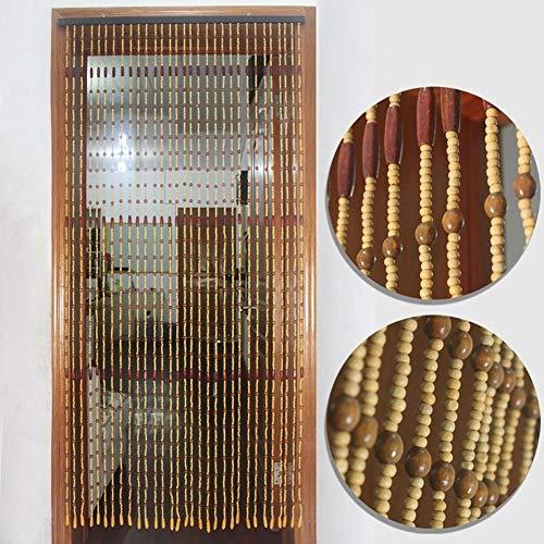 N / A CHAXIA Perlenvorhang Türvorhang Perlenschnur Natürlich Holz Perlen Vorhang 31 Stränge Trennvorhang Badezimmer Wohnzimmer Einfach Zu Säubern, Mehrere Größen