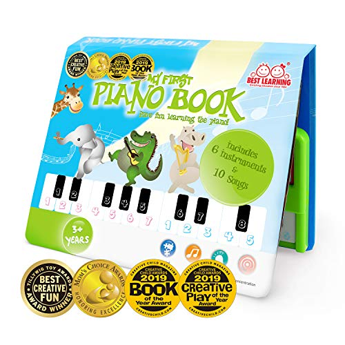BEST LEARNING My First Piano Book - Educational Musical Toy for Toddlers Kids Ages 3 Years and up for Boys and Girls