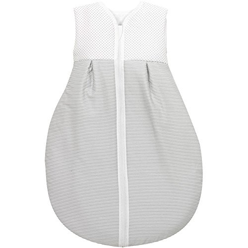 Alvi Baby Kugelschlafsack Molton Little Dots grey 632-9, Größe:110