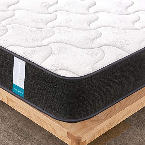 Inofia Mattress,Breathable Fabric Mattress with Pocket Springs,7-Zone Support System,8.7 Inch Depth...