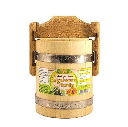 Engelwurz Honig, exclusive, 800g, in einem Holzfass