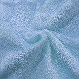 Tejido rizo toalla colores (Celeste)