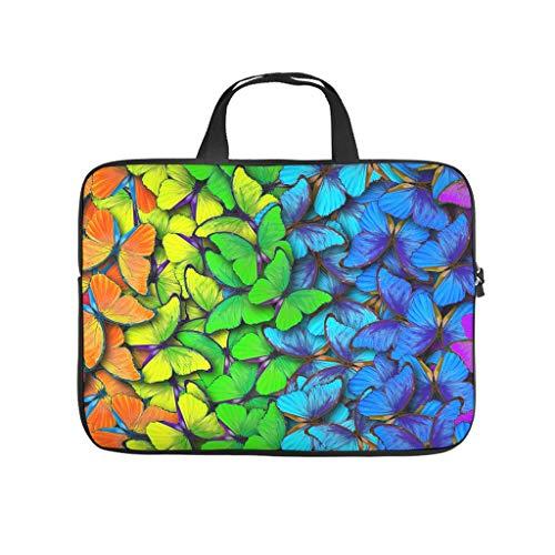 Butterfly Rainbow Laptop Case Bag Lightweight Durable Office Bag for Notebook/MacBook/Ultrabook/Chromebook White 10 Zoll