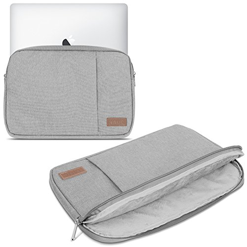 Laptop Schutz Tasche Schwarz Notebook Schutzhülle Ultrabook MacBook Tablet Cover Hülle, Notebook:TrekStor SurfTab Duo W3 W2 W1, Farbe:Grau