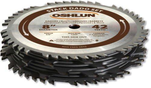 Oshlun SDS-0842 Stack Dado Set
