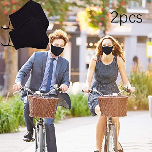 2PC Anticontaminación Velo Bicicleta, Adecuado para la Prueba de Polvo, Lavable, Deportes,...