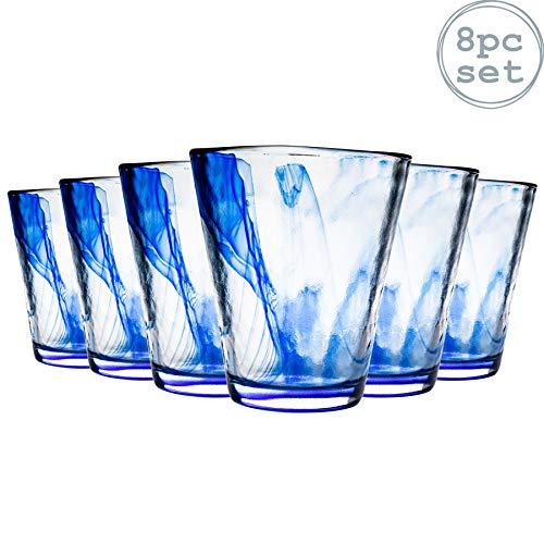 Murano Wasser/Saft Gläser Becher - 430ml - 8er-Set