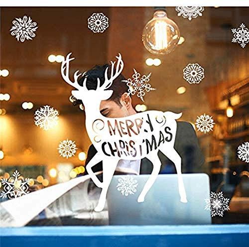 DTGSD Muurstickers Vrolijk Kerst Fotobehang 57x27 Cm Behang Voor Slaapkamer/Woonkamer/Raamdecoratie