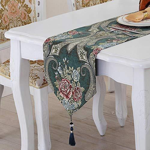 Branfan Tafellopers Europees Chinees tafelkleed Amerikaans land chenille TV kast salontafel doek 32 * 180CM_3