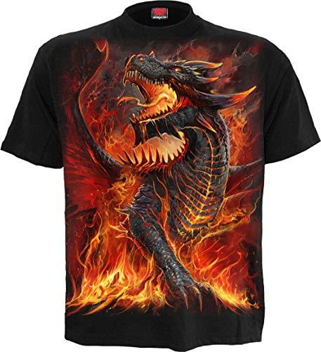 Spiral Direct Draconis Herrendrache, Biker, Rock, Metall, 3XL, 4XL, T-Shirt, Kleidung (XXX-Large)